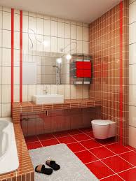 awesome red bathroom floor tiles for your interior home paint