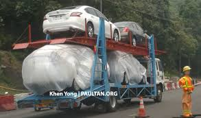 nissan x trail malaysia spyshots new nissan x trail sighted on trailer