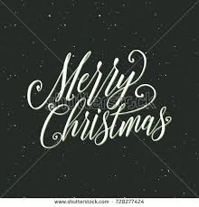 merry christmas christmas calligraphy handwritten modern stock