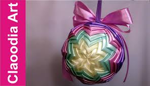 diy ribbon bauble ornaments