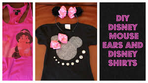 halloween disney shirts diy cheap disney minnie ears and disney bling shirts youtube