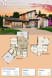 plan 85175ms dynamic 4 bed modern house plan with vaulted spaces