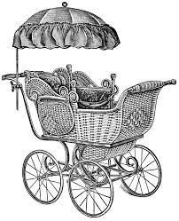 free vintage baby carriage clipart 47