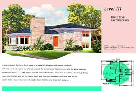 split level housing ranch homes plans for america in the 1950s