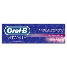 toothpaste whitening oral b 3d white vitalizing fresh mint toothpaste whitening enamel