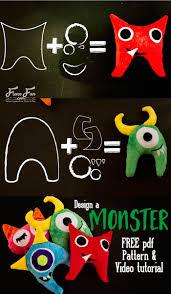 monster softie pattern free video tutorial fleece fun