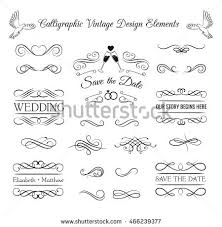 ornate frame elements vintage filigree decoration stock vector