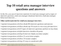 Retail Area Manager Resume Top10retailareamanagerinterviewquestionsandanswers 150318074933 Conversion Gate01 Thumbnail 4 Jpg Cb U003d1426683018