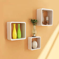 home sparkle wooden wall shelves set of 3 wall shelves