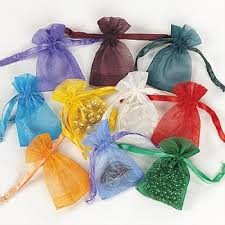 mini organza drawstring bags 50 pc toys