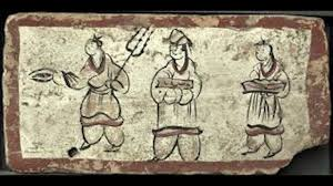 Mural Painting Sketches by 23 Mural Painting Tomb Of Wei Jin Dynasty Of Wei Jin Dynasty Youtube