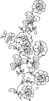 printable flower template cut out free stencils trees designs