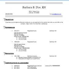 Free And Easy Resume Templates Nursing Resume Templates Free Resume Templates For Nurses How