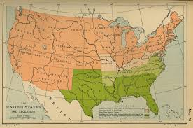 Us Map Of The United States by Map Of The United States The Secession