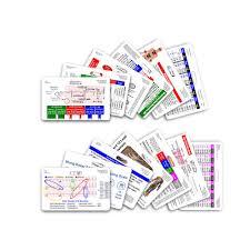 complete set for ems paramedic emt horizontal badge cards 13 cards