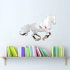 bestgrew kids acrylic mirror horse kids room decal art mural bestgrew kids acrylic mirror horse kids room decal art mural wallpaper wall decal wall sticker amazon com