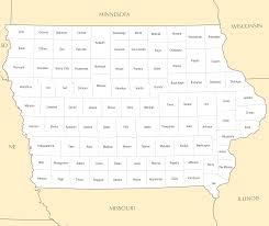 Map Of Iowa Towns Iowa County Map U2022 Mapsof Net
