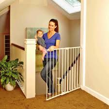 Child Gate Stairs by North States 28 68 47 85 Inch Tall Easy Swing U0026 Lock Stairway Gate