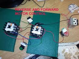 forward reverse motor control wiring circuit with diagram and