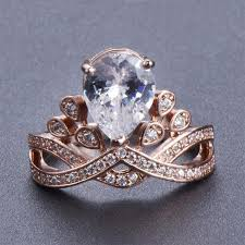 crown rings images Rose gold crown ring geniemania jpg