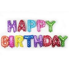 happy birthday balloon happy birthday letter foil balloon 1set party supplies malaysia