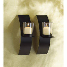 Candle Holder Wall Sconces Wooden Candle Holders Accessories Ebay
