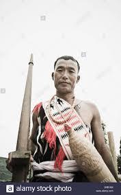 naga tribal warrior holding a cross bow hornbill festival kohima