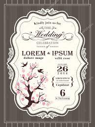 Cherry Blossom Wedding Invitations Vintage Cherry Blossom Wedding Invitation Border And Frame Templ