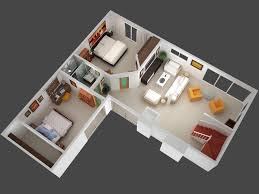2 bedroom house 3d plans open floor plan collection more