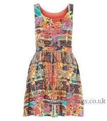 abstract pattern sleeveless dress print dresses womens red red parisian abstract sleeveless dress