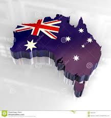 3d flag map of australia royalty free stock photos image 4865948