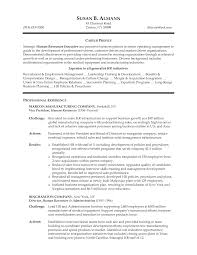 sample resume for human resource assistant resume executive hr