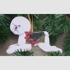 bichon frise carousel ornament d w possum designs washburn studios