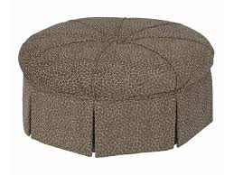 ottoman and accent chair kincaid furniture accent chairs round skirted ottoman adcock
