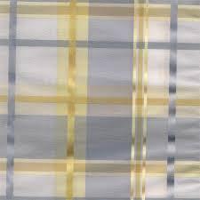Blue Plaid Curtains Cologne Blue Fog Plaid Fabric For Custom Window Treatments