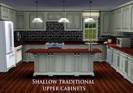 kitchen wall cabinets mod the sims shallow traditional wall cabinet