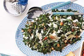 kale salad with dates parmesan and almonds recipe kale salad