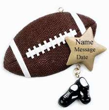 buy football ornament personalized ornament from a