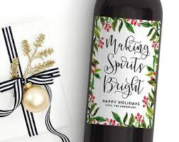 christmas wine christmas wine label etsy