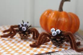 Halloween Spider Crafts by Pinecone Spider Craft For Halloween The Neighborhood Moms