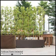 4 l bamboo outdoor artificial grove in modern fiberglass planter