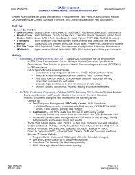 Qa Sample Resume Manual Tester Cover Letter