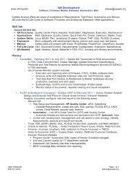 Software Qa Engineer Resume Sample Mobile Phone Test Engineer Sample Resume Cover Letter For Software
