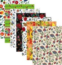 themed wrapping paper center gift wrapping paper set of 7 folk themed