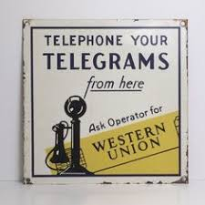 founded in 1856 western union used the new cutting edge telegram