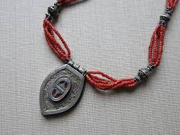 coral necklace silver images Kazakhstan tribal silver coral necklace turkishfolkart jpg
