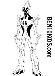 100 ben ten omniverse coloring pages shocksquatch ben 10
