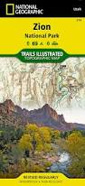 Map Of Zion National Park Zion National Park National Geographic Trails Illustrated Map