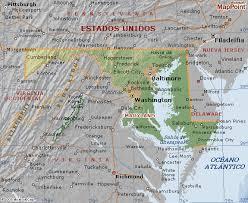maryland mapa mapa geográfico estado de maryland en los estados unidos