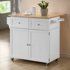 butcher block portable kitchen island wildon home carol kitchen island with butcher block top